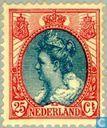 "Timbres-poste - Pays-Bas [NLD] - «Col de fourrure"" reine Wilhelmine"