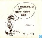 7 postkaarten met Guust Flater gags deel 1