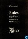 Rules and regulations + Notes from the chairman
