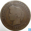 Frankrijk 10 centimes 1871 K