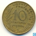 France 10 centimes 1964