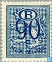 Cijfer op heraldieke leeuw met B in een ovaal