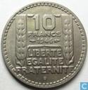 Frankrijk 10 francs 1946 (B lange laurierbladeren)