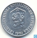 Tchécoslovaquie 1 haler 1963