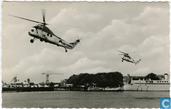 Demonstratie helicopters HSSIN tijdens vlootdagen in Den Helder