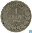 Belgique 1 franc 1834 (FR)