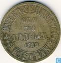 Nederlands-Indië 1 dollar 1888 Plantagegeld, Sumatra, Kisaran