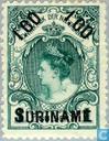 Wilhelmina, overprinted