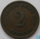 German Empire 2 pfennig 1875 (G)