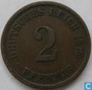 Duitse Rijk 2 pfennig 1875 (G)