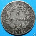 Frankrijk 5 francs 1812 (K)