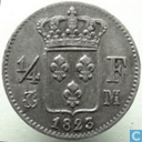 France ¼ franc 1823 (M)
