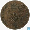 Belgium 2 centimes 1852