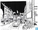 """Pentekening """"La rue"""""""