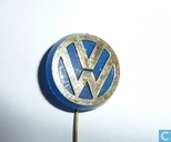 Volkswagen (goud op transparant blauw)