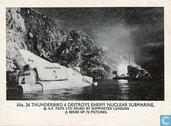 Thunderbird 4 destroys enemy nuclear submarine.