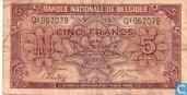 Belgique 5 Francs ou 1 Belga