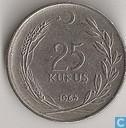 Turkey 25 kurus 1964