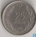 Turkije 25 kurus 1964
