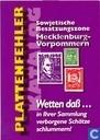 Plattenfehler Katalog Sowjetische Besatzungszone Mecklenburg-Vorpommern