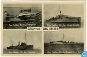 Souvenir Den Helder met Dornier Wal vliegboot (vierluik)