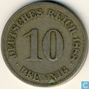 German Empire 10 pfennig 1888 (E)