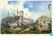 Fertigstellung der 1000. Lok in der Fabrik von Gerog Krauss, Munchen, 1882