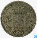 België 2½ francs 1849 (Klein hoofd)
