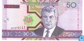 manat turkmène 50
