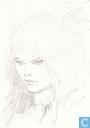 VERKEERDE RUBRIEK ---> STRIP-EXLIBRIS/PRENT Roodhaar (portret)