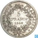 Frankreich 5 Franc 1848 (D)