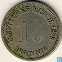 Empire allemand 10 pfennig 1873 (A)