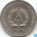 "GDR 20 mark 1971 ""100th Anniversary - Birth of Heinrich Mann"""