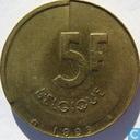 Belgium 5 francs 1993 (FRA)