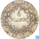 France 5 francs AN 13 (M)