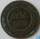 Marokko 10 mazunas 1902 (jaar 1320 - FES - grote letters)
