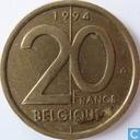 Belgium 20 francs 1994 (FRA)