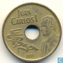 "Espagne 25 pesetas 1991 ""1992 Summer Olympics in Barcelona - high jump"""
