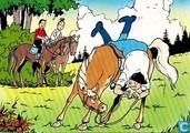 Lambik valt van het paard
