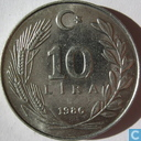 Turkey 10 lira 1986