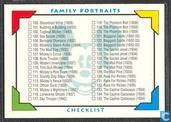 Family Portraits Checklist