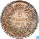 France 5 francs 1848 (A - Hercules)