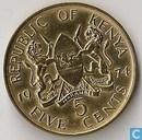 Kenia 5 cents 1974