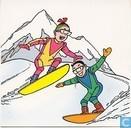 Suske en Wiske snowboarden
