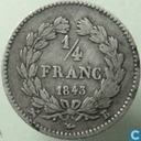 France ¼ franc 1843 (B)