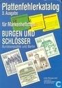 Plattenfehlerkatalog für Markenheftchen Burgen und Schlösser Bundesrepublik und Berlin