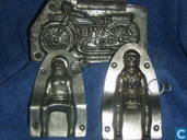Man en vrouw met moto