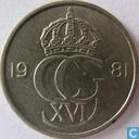 Monnaies - Suède - Suède 10 öre 1981
