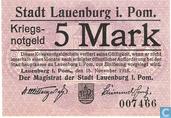 Ich Lauenburg Pommern 5 Mark