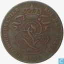 Belgium 2 centimes 1853